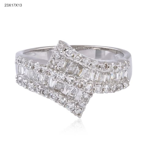 18Kt Gold Diamond Band Ring Pave Jewelry With Jewelry Box