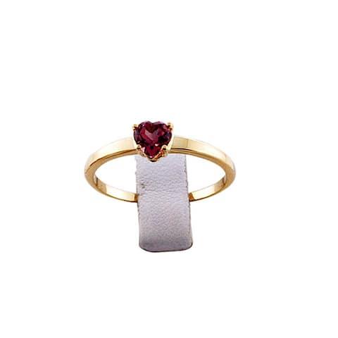 14Kt Gold Heart Tourmaline Ring Gemstone Jewelry