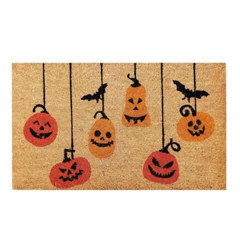 Pumpkin Halloween Non-skid Coir Doormat