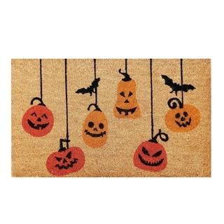 Pumpkin Halloween Non-skid Coir Doormat - N/A