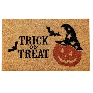 Halloween Trick or Treat Non-skid Coir Doormat - N/A