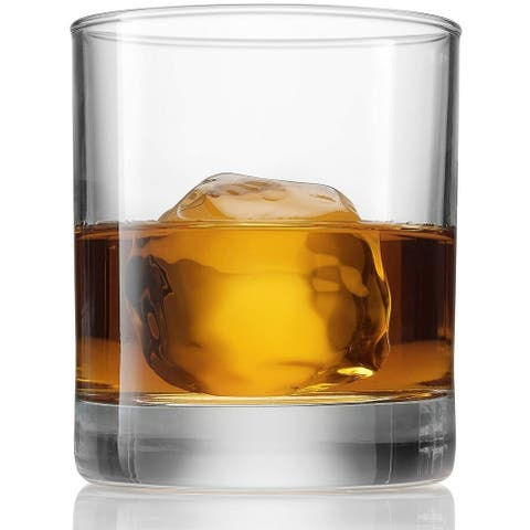 Bormioli Rocco Old Fashioned Whiskey Glasses - 8.5 Ounce - (6 Piece Set) classic Design Weighted Bottom, Bar Glass