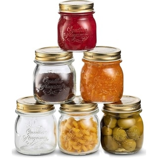 Link to Bormioli Rocco Quattro Stagioni Glass Mason Jars 8.5 Ounce 6-Pack with Metal Airtight Lid, For  Crafts, Spices, Dry Food Storage Similar Items in Kitchen Storage