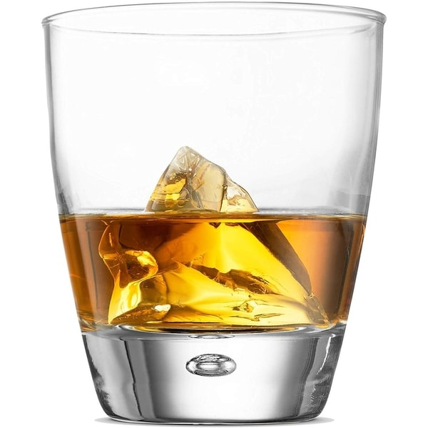 Double Old Fashioned Whiskey glasses - Set of 4 - Whiskey Glass set 11.75 Oz Crystal Cocktail Glasses For Whisky, Bourbon Scotch. Opens flyout.