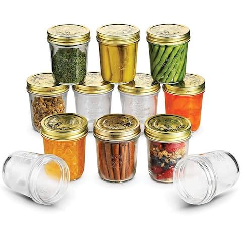 Bormioli Quattro Stagioni Mason Jars 10.75 Ounce Glass Jar (12 Pack) with Metal Airtight Lid Canning Jar