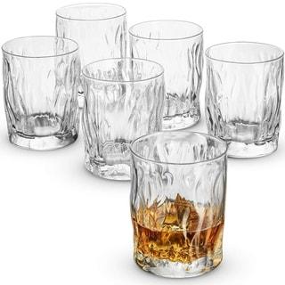 Double Old Fashioned Whiskey glasses - Set of 6 - Whiskey Glass set 11.75 Ounce Crystal Cocktail Glasses For Whisky, Bourbon