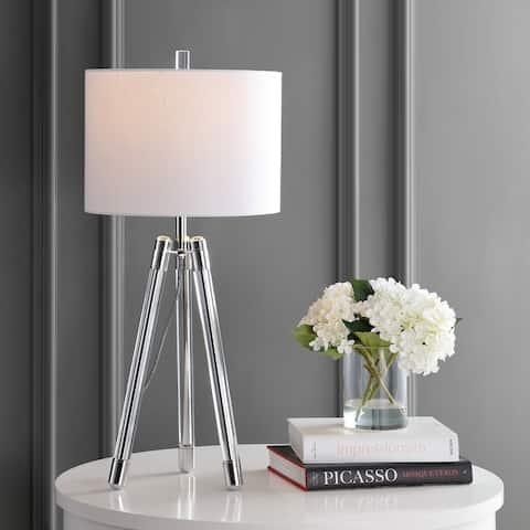 "Wyman 30.5"" Surveyor's Tripod LED Table Lamp, Chrome by JONATHAN Y"