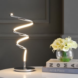 """Link to Scribble 20"""" Dimmable Metal Integrated LED Table Lamp, by JONATHAN  Y - 19.75"""" H x 8"""" W x 8"""" D Similar Items in Table Lamps"""