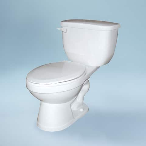 """Transolid Madison 2-Piece 1.0 GPF Elongated Toilet, in White - 18"""" x 28"""" x 30.33"""""""