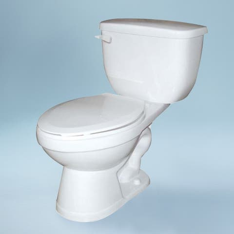 Transolid Madison 2-Piece 1.0 GPF Round Toilet, in White