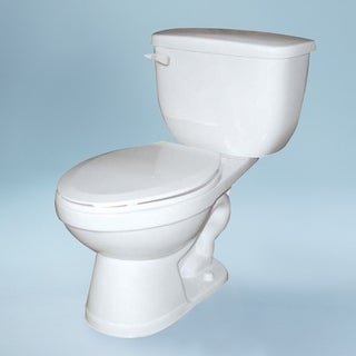 "Transolid Madison 2-Piece 1.0 GPF Round Toilet, in White - 18"" x 26"" x 30.33"""