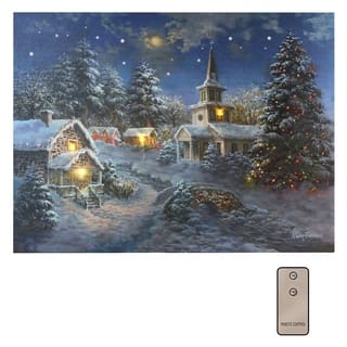 Winter Village Light Battery Operated LED Wall Art with Remote Control