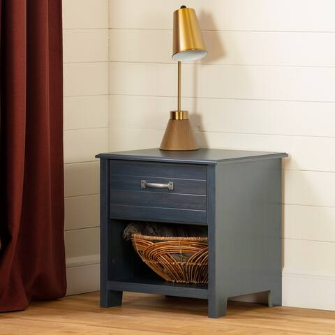 South Shore Asten 1-Drawer Nightstand