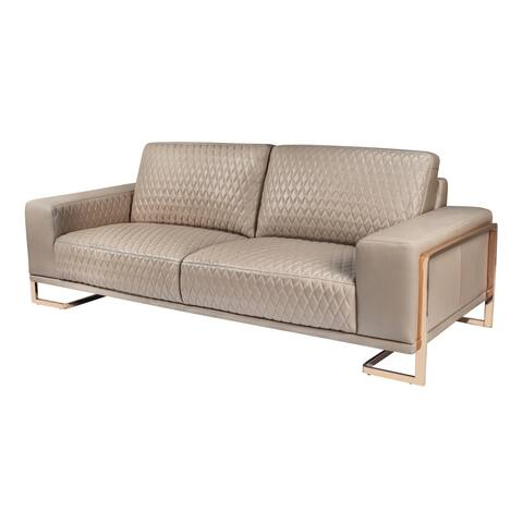 Gianna Rose Gold Leather Standard Sofa