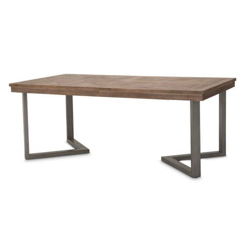 Hudson Ferry 8-foot Driftwood Rectangle Dining Table - Brown