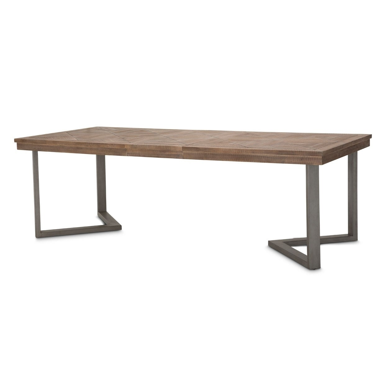 Shop Hudson Ferry 8 Foot Driftwood Rectangle Dining Table With Extension Brown Overstock 29044082