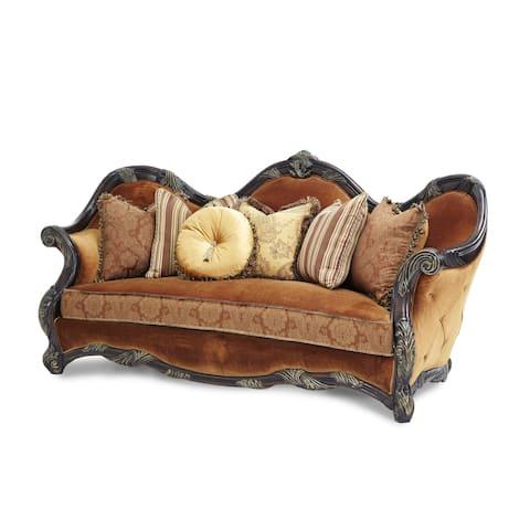 Essex Manor Deep English Tea Wood Trim Sofa