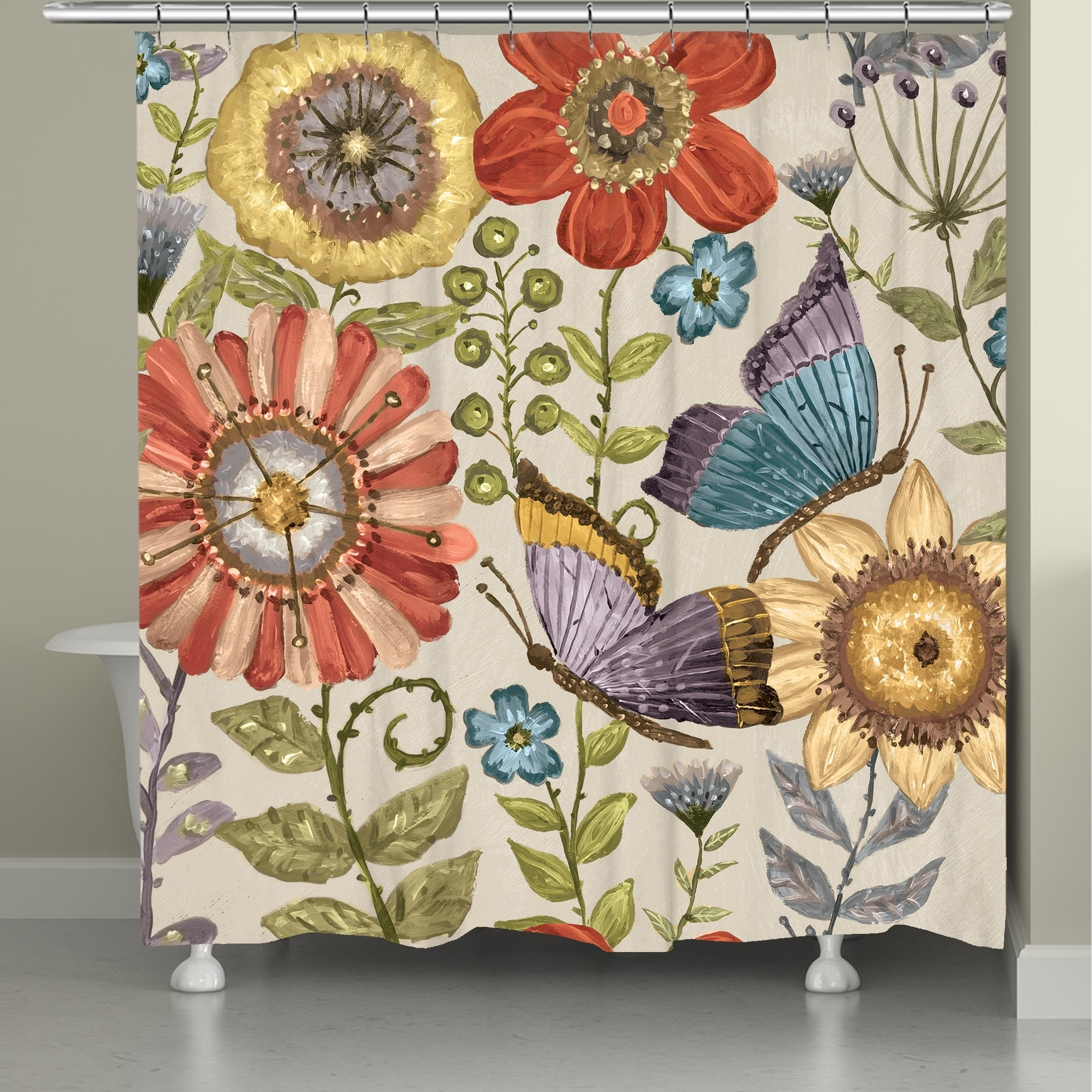 Shop Black Friday Deals On Boho Butterfly Shower Curtain Overstock 29044121