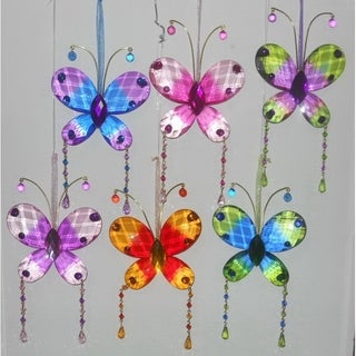 Multicoloured Butterfly Acrylic Suncatchers