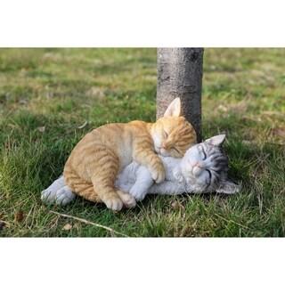 Orange/ Grey Tabby Cats Sleeping Sculpture by Havenside Home