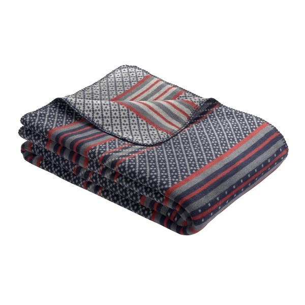 S Oliver Blue Multi Intricate Stripe Design Woven Throw Blanket Overstock 29045737