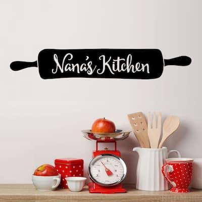 Nana's Kitchen Rolling Pin Vinyl Wall Decal