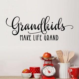 Grandkids Make Life Grand Vinyl Wall Decal