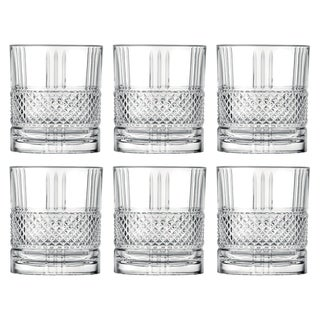 Link to Majestic Gifts Inc. Set of 6 Glass  Designed DOF Tumblers , 12 oz. Similar Items in Glasses & Barware