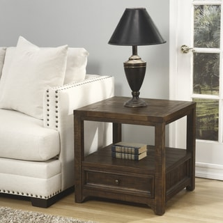 Carbon Loft Helcar Solid Wood End Table
