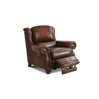 Reston Leather Power Chair Recliner with Nailhead Trim