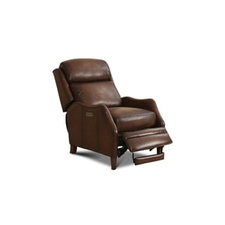 Groveton Leather Power Chair Recliner with Nailhead Trim
