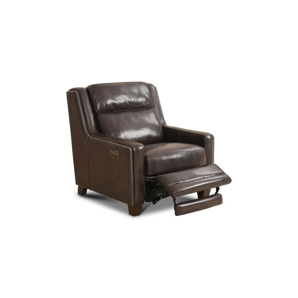 Lorton Leather Power Chair Recliner with Nailhead Trim