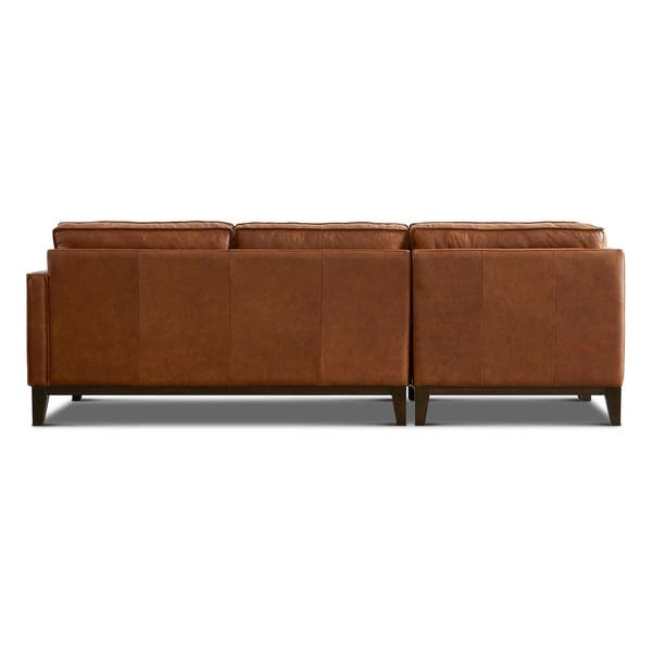 Astounding Shop Olney Leather Sofa Chaise Right Arm Facing With Wood Beatyapartments Chair Design Images Beatyapartmentscom