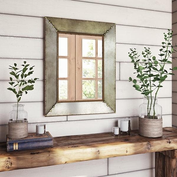 """The Gray Barn Farmhouse Wall Mirror - 28""""H x 22""""W x 2""""D (Mirror only: 19.5""""H x 13.5""""W)"""