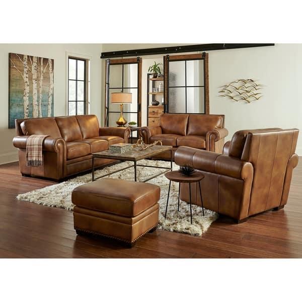 Terrific Shop Peake Four Piece Leather Sofa Loveseat Chair And Spiritservingveterans Wood Chair Design Ideas Spiritservingveteransorg