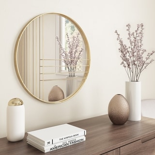 "Carson Carrington Idrefjall Modern Wall Mirror - 24""H x 24""W x 1""D"