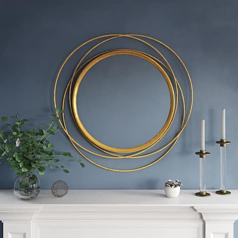 "Carson Carrington Lacksta Round Wall Mirror - 32""H x 32""W x 1.5""D (Mirror only: 21""H x 21""W)"