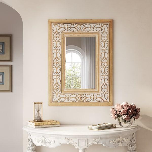 Maris Wood Wall Mirror - N/A