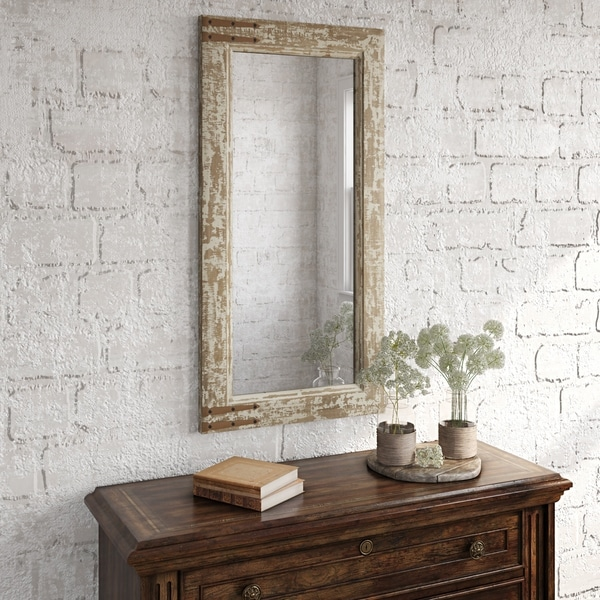 "Sonali Farmhouse Wall Mirror - 36""H x 18""W x 1""D (Mirror only: 30""H x 12""W)"
