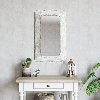"""The Gray Barn Pollyanna Farmhouse Wall Mirror - 31.5""""H x 19""""W x 2.5""""D (Mirror only: 24""""H x 12""""W)"""