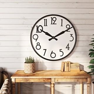 "The Gray Barn Large Wall Clock - 33'H x 33""W x 2.5""D"