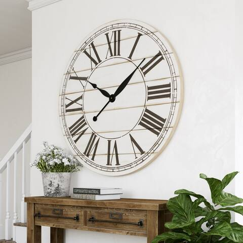 "The Gray Barn Oversize Shiplap Wall Clock - 48""H x 48""W x 1.5""D"