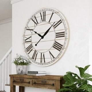 "Renata Oversize Shiplap Wall Clock - 48""H x 48""W x 1.5""D"