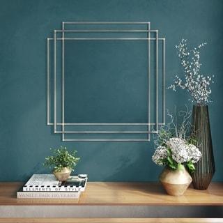 "Dmitry Modern Wall Mirror - 32.5""H x 32.5""W x 1""D (Mirror only: 23""H x 23""W)"