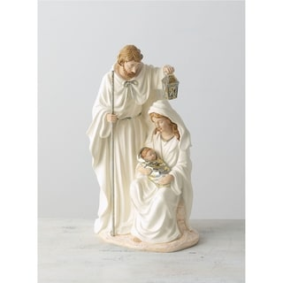 "White & Silver Holy Family Tabletop Decor - 8""L x 5.5""W x 14""H"
