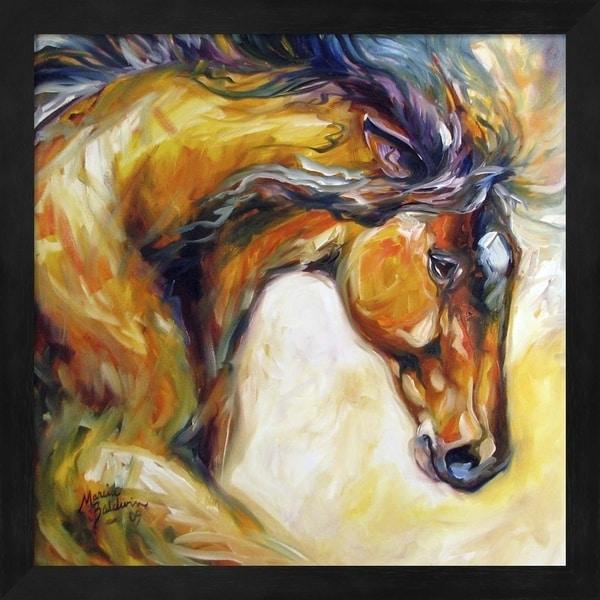 Marcia Baldwin 'Determined Equine' Framed Art