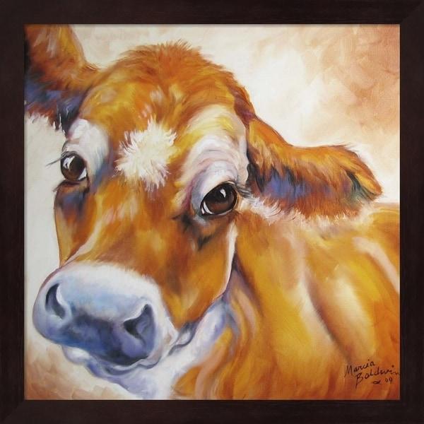Marcia Baldwin 'My Jersey Cow Commission' Framed Art