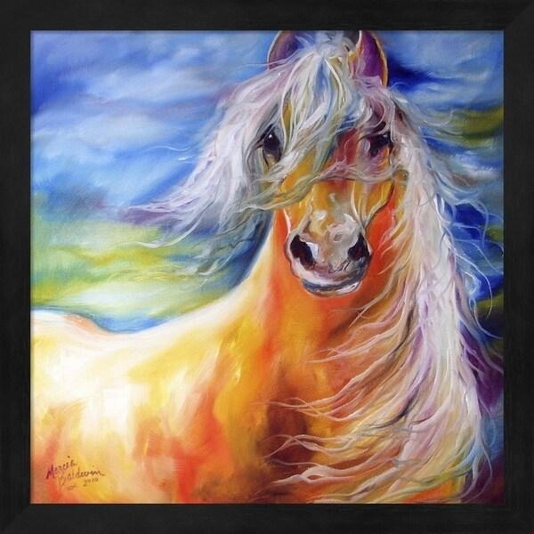 Marcia Baldwin 'Bright Day Equine' Framed Art
