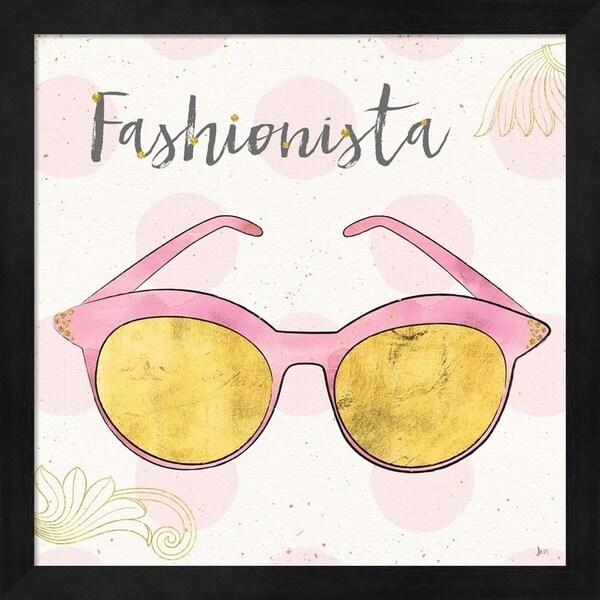 Jess Aiken 'Fashion Blooms IV Pink' Framed Art