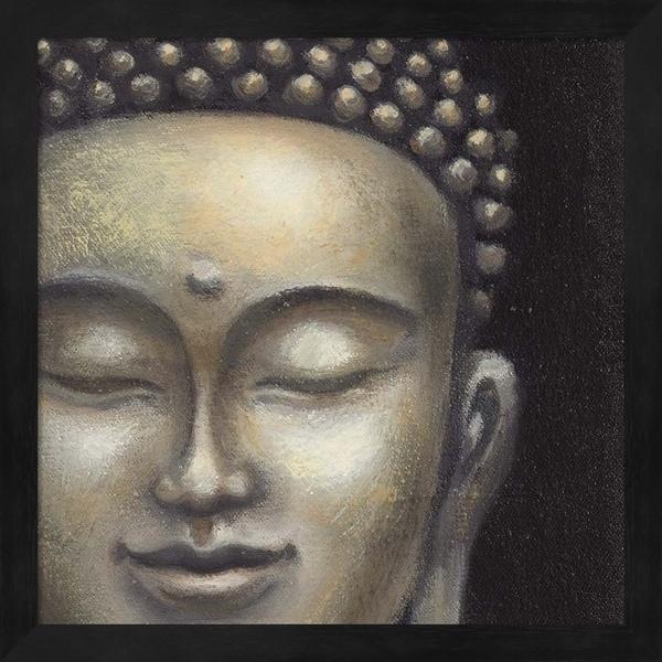 Naomi McBride 'Serene Buddha II Crop' Framed Art